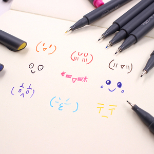 Image 4 - Jonvon Satone 50pcs(5lot) Fineliner Drawing Pen Cartoon Design Water Color Pens Stationery Office School Supplies For Wholesale