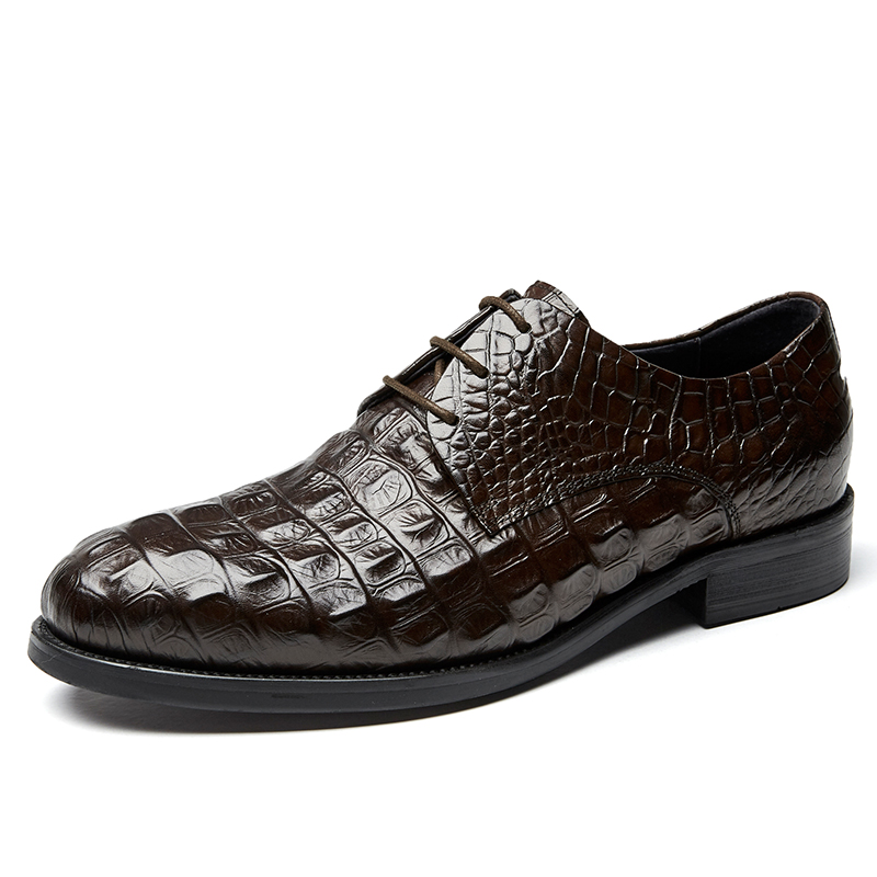 Luxury design men dress shoes genuine cow leather derby potent man led shoes party Alligator top quality successful people