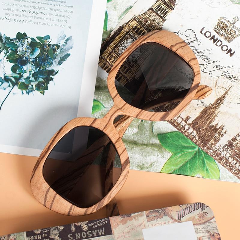 BOBO BIRD Polarized Retro Eyewear Wood Sunglasses 11
