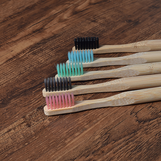 5 pack Adult Bamboo Toothbrushes Soft Bristles eco friendly cepillo dientes bambu Oral Care Toothbrush clareador de dente 4