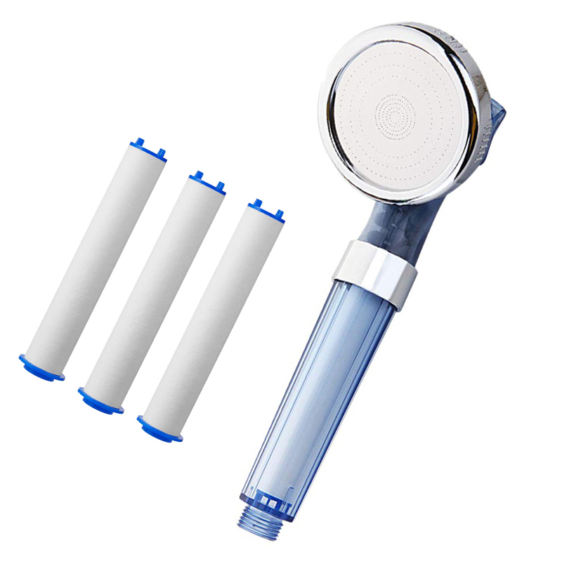 High Quality Residual Chlorine Removal PP Sediment Cartridge Filtered Shower Head