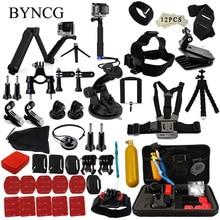 Byncg para xiaomi yi 4 k acessórios set para gopro kit de três vias monopé selfie vara para gopro hero 5 h9r eken 4 3 + ação câmera