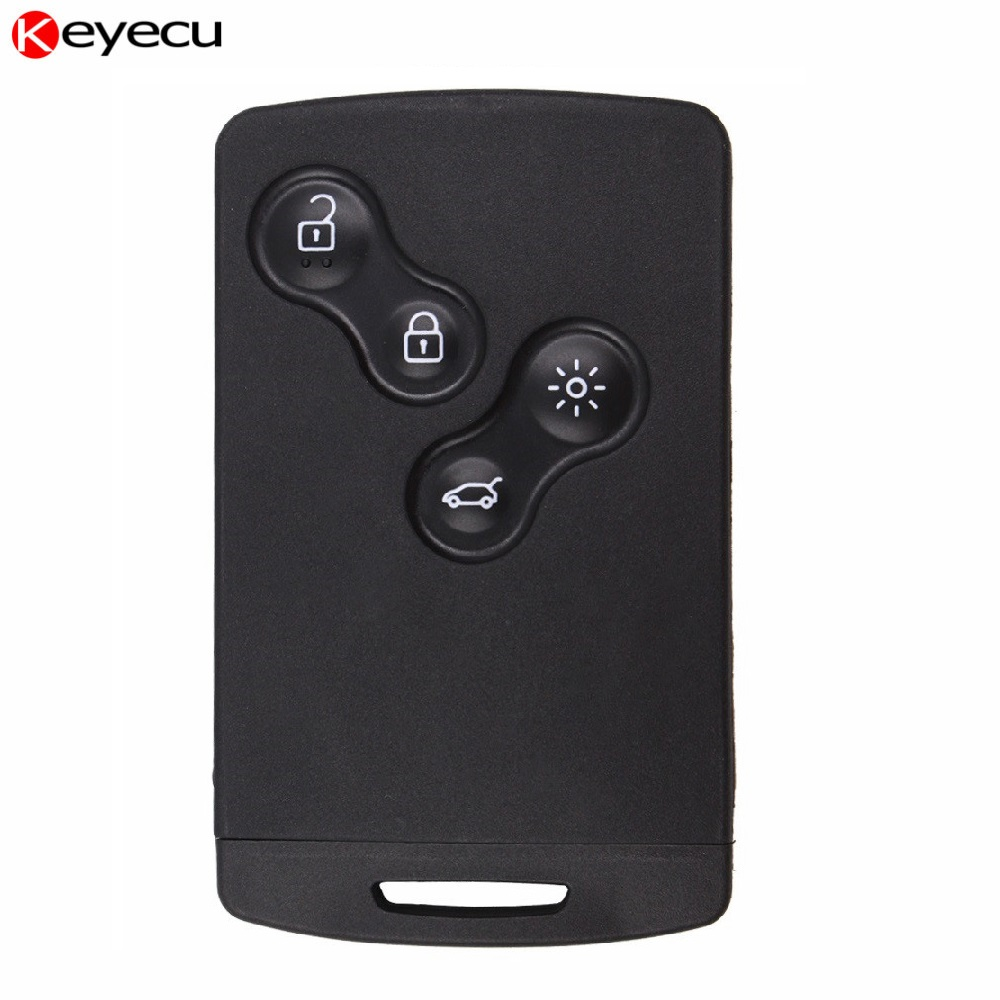 Keyecu Full Intelligent Remote Key Fob Smart Remote Key for Renault Clio 4 with PCF7953XTT Chip 4 Buttons 433Mhz