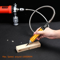 6mm Rotary Grinder Tool 110cm Flexible Flex Shaft Tube 0 6.5mm Handpiece for Dremel Style Electric Drill Rotary Tool Accessory