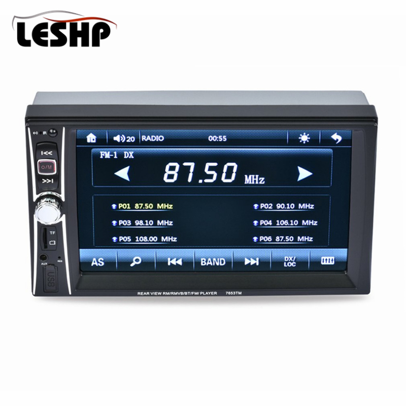 все цены на 7653TM 7'' HD 2 Din Car Radio MP5 Player Mobile Phone internet Bluetooth Touch Screen Stereo Radio Player MP3/Audio/Video/USB онлайн
