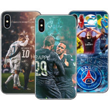 Paris Saint Germain PSG Cover for iPhone 5 5S SE 6 6S 7 7 Plus Brazil Star Neymar jr Hard Phone Cases For iPhone X 8 8Plus Cover(China)