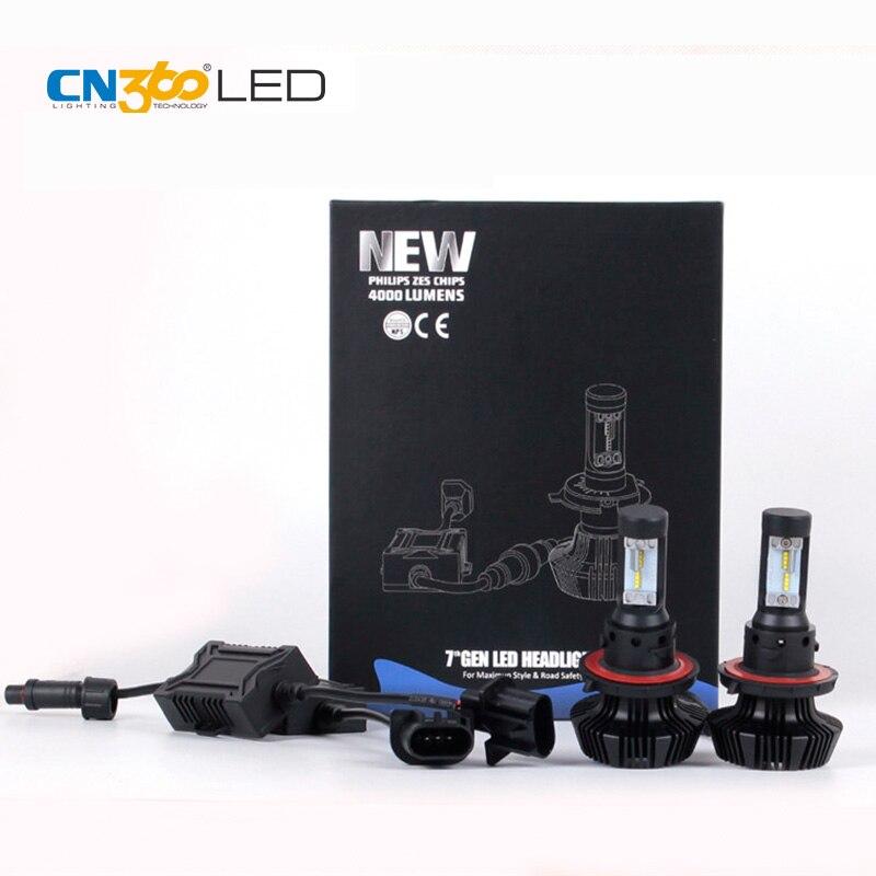 CN360 2 CÁI LED 9008 H13 Led Xe Headlight Bulbs Ô Tô Đèn Pha 6500 K 12 V Kích Thước Nhỏ Hai Loại cài đặt Không Thấm Nước