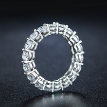 Fine Jewelry 925 Sterling Silver Wedding Rings Set full 2mm 0.5 Carat Sona CZ Diamant Brand Engagement Rings for Women