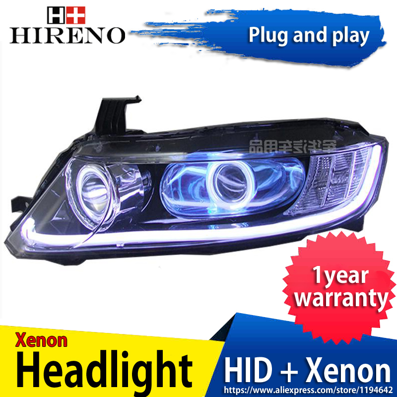 Car custom Modified Xenon Headlamp for Honda Odyssey 2005-08 Headlights Assembly Car styling Angel Lens HID 2pcs hireno headlamp for mercedes benz w163 ml320 ml280 ml350 ml430 headlight assembly led drl angel lens double beam hid xenon 2pcs