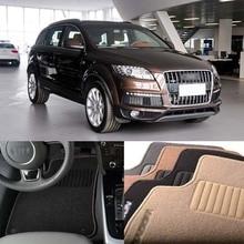 5pcs Premium Auto Fabric Nylon Anti-slip Floor Mats Carpet For Audi Q7 5 Seats