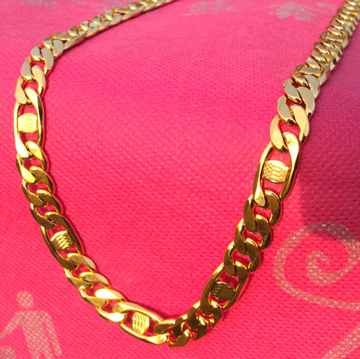 a892fff9e9ff5 MEN'S Chain Necklace 600MM ITALY NEW Handsome 14K SOLID YELLOW GOLD ...