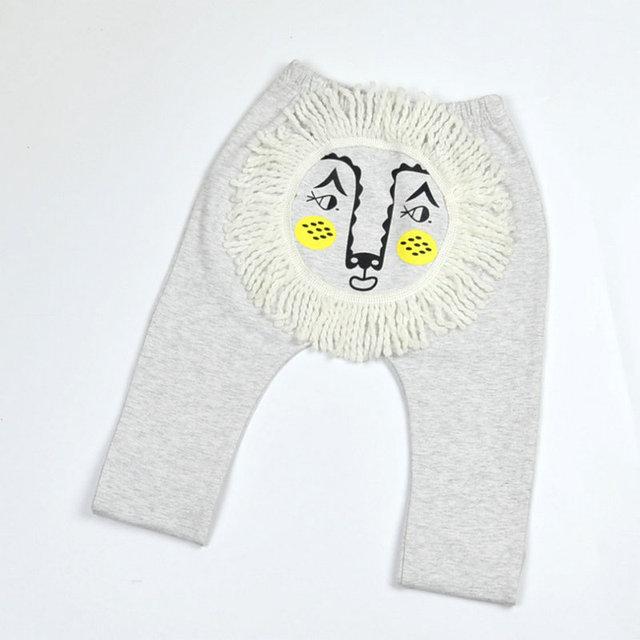 León del bebé Niños Pantalones de Los PP Niños Niñas Infantil Modal Pantalones de La Manera del Otoño Leggings Ropa Para Niño Recién Nacido/Ropa de Las Muchachas