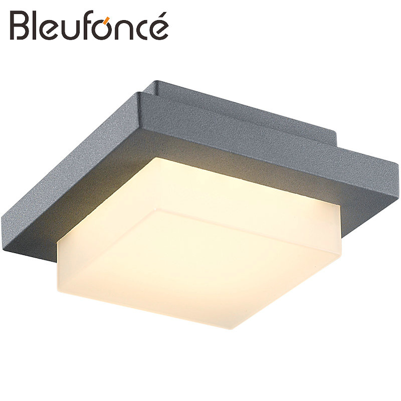 Outdoor Waterproof Aluminum Wall Lamp Warm White LED Wall Lamp Modern Sconce Lighting Door Wall Light Garden Lamp Wall Lamp BL78 led recessed wall light outdoor waterproof ip54 modern wall lamp for stairs art home decoration sconce lighting fixture 1097