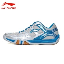 Li-Ning Women's Breathable Saga Light TD Badminton Shoes Anti-Slip LINING Hard-Wearing Support Sneakers Sports Shoes AYTM076