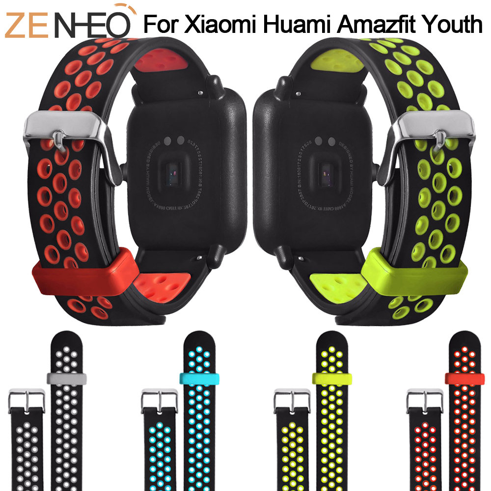 Back To Search Resultswatches Silicone Smart Accessories Wristband Straps For Xiaomi Huami Amazfit Bip Youth Double Colorful Replacement Smart Watchband 20mm Sale Price