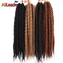 AliLeader Hair Extension 12 18 22 Inch Crochet Braids Burgundy Black Blonde Silver Havana Twist Synthetic Braiding Hair 1-10pcs(China)