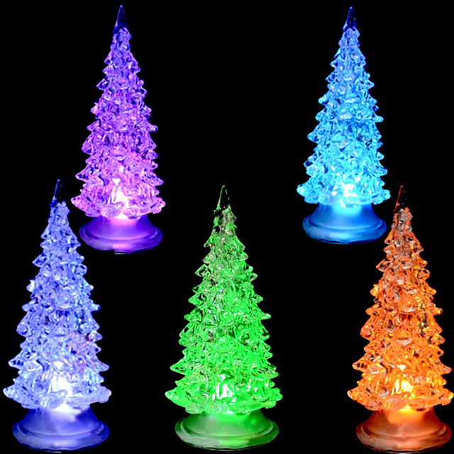 Colorful Led Christmas Lighted Tree Decorations Changing Color Ornaments Lights Outdoor