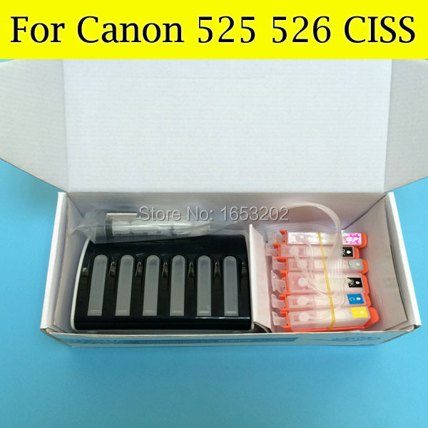 ФОТО Newest Ciss System PGI-525 CLI-526 CLI526 For CANON PIXMA MG5250/5150/6150/8150 Prinjter With 5 Color ARC Chip