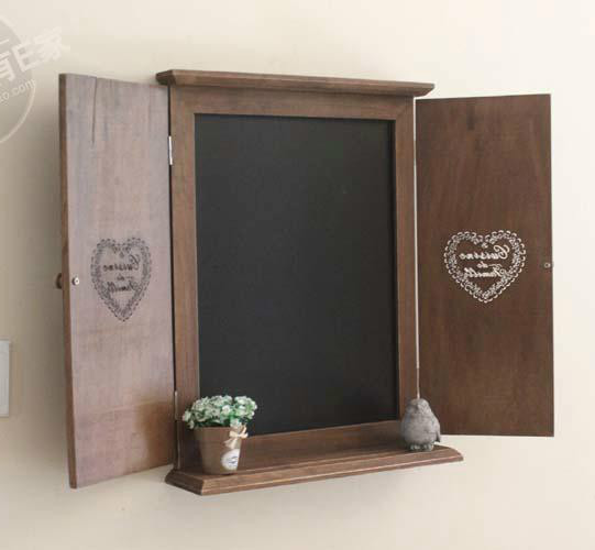 Fake wood window wall blackboard  decorative wall hanging decoration clothing store Bar Message Board