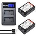 2 pc np-np fw50 fw50 bateria + lcd dual usb carregador para sony a37 NEX-5 NEX-5A NEX-5C NEX-5D NEX-5DB NEX-5HB NEX-5K 7R Alfa II