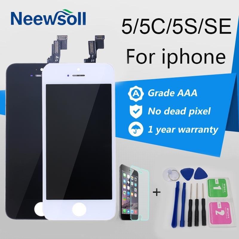 Neewsoll AAA Qualità Dello Schermo LCD Per iPhone 5 5 S 5C SE LCD Touch Screen Per Iphone 5 Schermo Digitizer