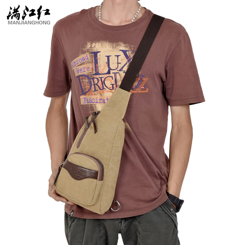 Manjianghong Men Functional multilayer Bag Cool Casual Chest Bag Pack Modern Outside Large Capacity Messenger bag Pack 1302
