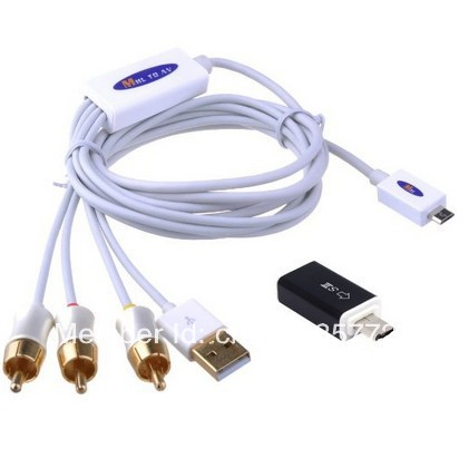 Samsung Micro Usb To Rca Cable: MHL Micro USB to RCA HDTV Adapter AV Cable For Samsung Galaxy S4 rh:aliexpress.com,Design