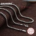 BALMORA 100% Real 925 Sterling Silver Jóias 22-30 polegadas Colares para Homens Masculinos Acessórios Pingente Elo Da Cadeia Bijoux CK0057