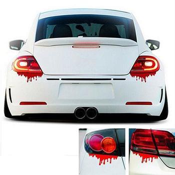 Reflective Red Blood Bleeding Car Sticker Car Decals Rear Front Headlight Sticker hot car sticker accesorios automovil 1