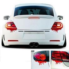 מצחיק מדבקה רעיוני אדום דם דימום רכב מדבקה לרכב מדבקות אחורי קדמי פנס מדבקת חם רכב מדבקת automovil