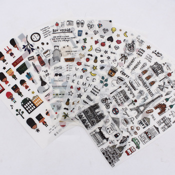 European style Travel diary Paper Sticker Decoration Diary Scrapbooking Label Kawaii Korean Stationaries Stickers - discount item  28% OFF Stationery Sticker