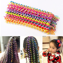 6PCS/Lot New Cute Girls Headband Colorful Crystal Elastic Hair Bands Hairwear ren Gift Hairbands 2018 Accessories