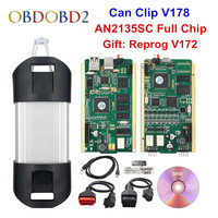 Best AN2135SC/AN2131QC Full Chip For Can Clip V178 + Reprog V172 Auto Diagnostic Tool Gold PCB For Can Clip Cars 1998 2017
