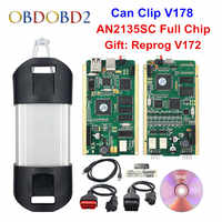 Best AN2135SC/AN2131QC Pieno di Chip Per Can Clip V178 + Reprog V172 Strumento di Diagnostica Auto Oro PCB Per Can clip di Auto 1998-2017