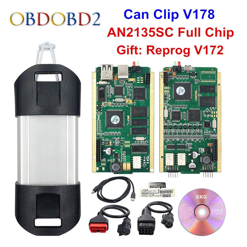 Meilleur AN2135SC/AN2131QC pleine puce pour peut Clip V178 + Reprog V172 Auto outil de Diagnostic or PCB pour peut Clip voitures 1998-2017