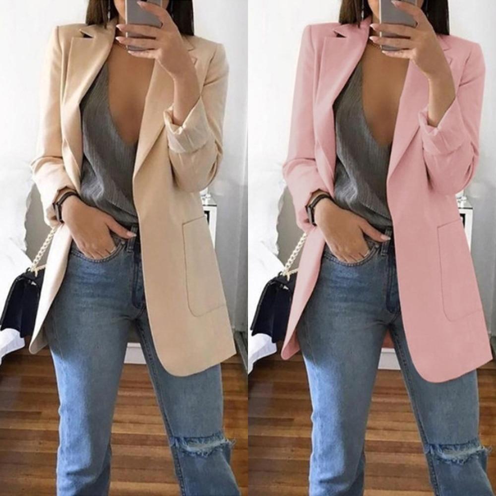 New Autumn Winter Lapel Slim Cardigan Temperament Solid Color Elegant Suit Jacket Street Shoot Gas Field Fashion Women
