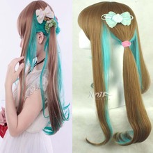 Hot sale Harajuku hair jewelry 310g 70cm curly synthetic hair accessories for cosplay ombre wigs