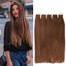 Brazilian Virgin Tape In Human Hair Extensions Straight 20pcs/lot PU Skin Weft Hair Extensions Type Hair Pieces