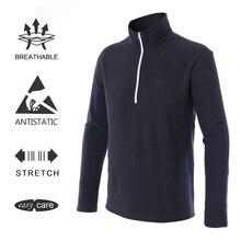 EAGEGOF Мужская футболка для гольфа с длинными рукавами Повседневная зимняя Толстовка осеннее теплое хлопковое пальто 1/4 на молнии с воротником-стойкой, пуловер, одежда