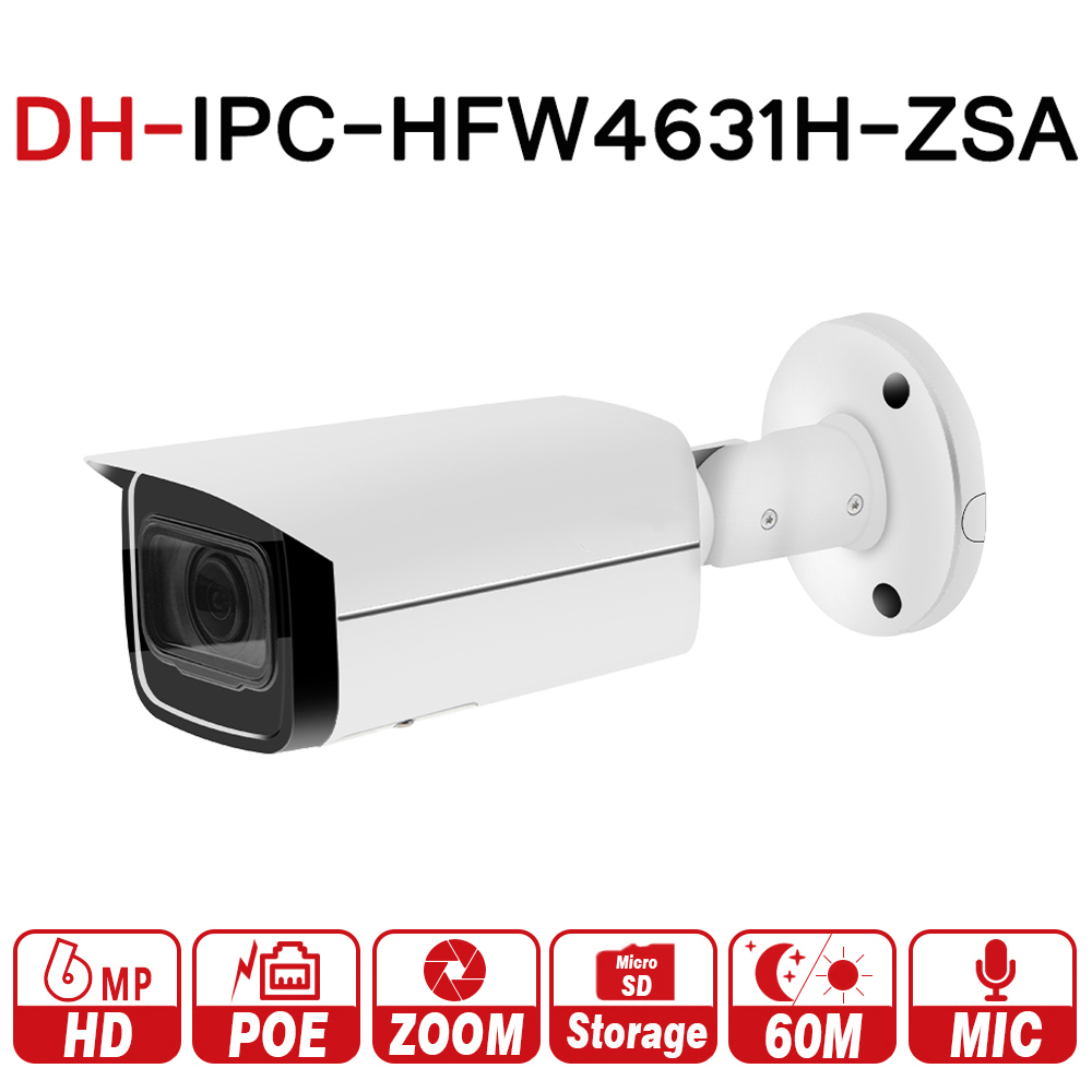 DH IPC-HFW4631H-ZSA 6MP IP Камера обновления от IPC-HFW4431R-Z Встроенный микрофон Micro SD карты 5X зум PoE Камера с dahua логотип