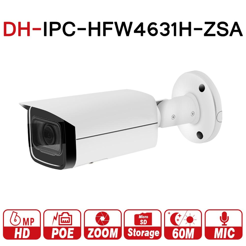 DH IPC-HFW4631H-ZSA 6MP IP Caméra Mise À Niveau de IPC-HFW4431R-Z Construction Dans la MiC Micro SD Fente Pour Carte 5X Zoom PoE Caméra avec logo