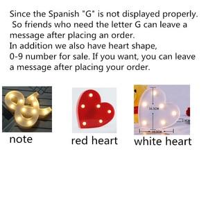 Image 5 - Veilleuse veilleuse avec lettres LED CM, décoration murale, batterie, décoration murale pour maison, fête, anniversaire, mariage, cadeau de saint valentin