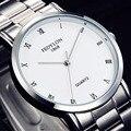 Venda de Alta Qualidade FEDYLON Homens Completa de Aço Inoxidável Relógio de Quartzo Da Forma Simples Números Roma Relógios Casuais Masculinos Frete Grátis