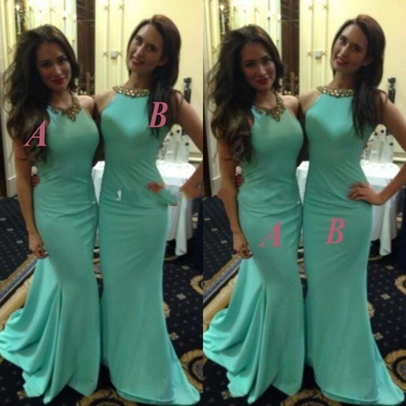 Vestidos de damas de honor color verde menta