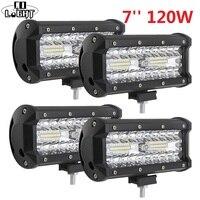 CO LIGHT Led Light Bar 120W 7 Inch Work Light Spot Flood Combo For Truck Kamaz