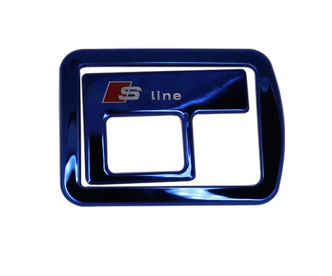 2Pcs Car Styling Blue stainless steel Rear Trunk Door Handle Cover S line Logo Sticker For Audi A3 8V 2013-2017 Car Accessories ...