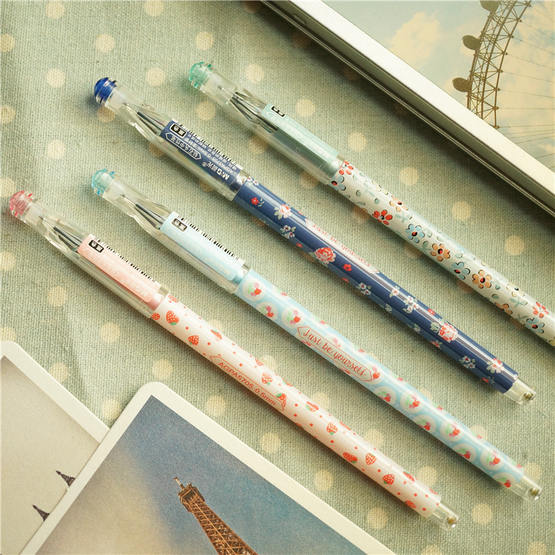 <font><b>12</b></font> PCS chenguang flower black 0.5 <font><b>mm</b></font> <font><b>unisex</b></font> pen gel pen image