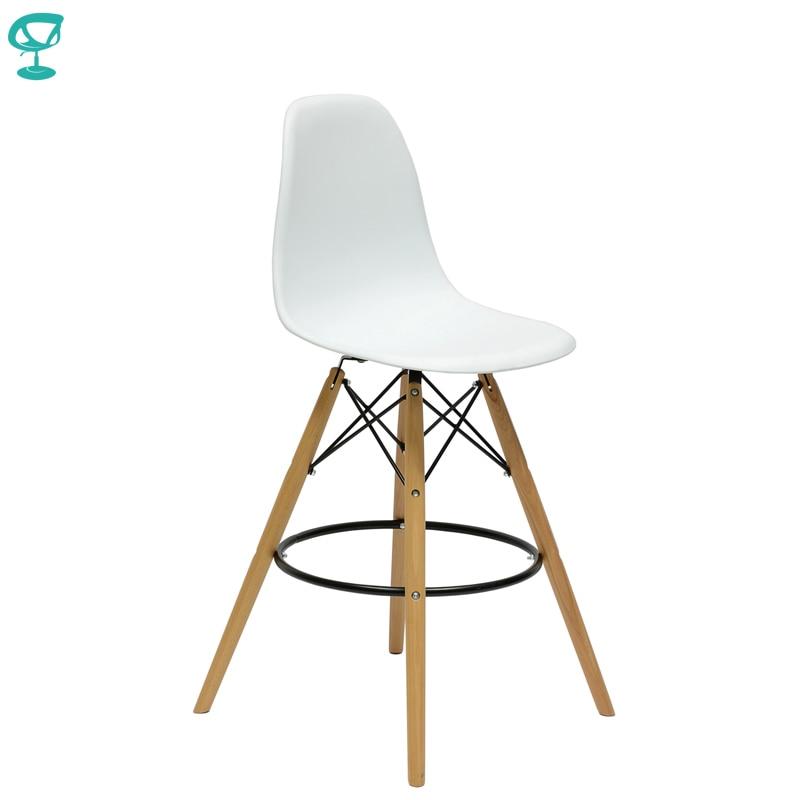 94892 Barneo N-11 Plastic Wood High Kitchen Breakfast Bar Stool Bar Chair Kitchen Furniture White Free Shipping In Russia