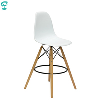 94892 Barneo N 11 Plastic Wood High Kitchen Breakfast Bar Stool Bar Chair Kitchen Furniture White free shipping in Russia