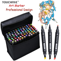 TouchFIVE 36 48 72 80 168 Colors Set Art Markers Alcohol Dual Headed Graffiti Pen Markers